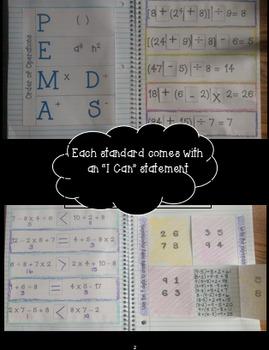 5th Grade Math Interactive Notebook: OA