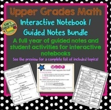 5th Grade  Math Guided Notes & Activities Bundle Full Year
