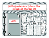 5th Grade Math Interactive Notebook Starter Pages