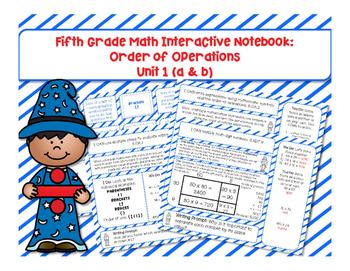 5th Grade Math Interactive Notebook Unit 1