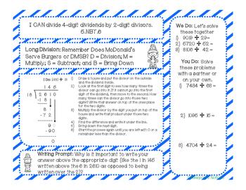 5th Grade Math Interactive Notebook Unit 1b: Multiplication & Division