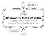 5th Grade Math Interactive Notebook Unit 2