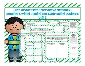 5th Grade Math Interactive Notebook Unit 2: Adding and Subtracting Decimals