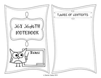 5th Grade Math Interactive Notebook Unit 3