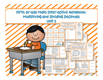 5th Grade Math Interactive Notebook Unit 3: Multiplying and Dividing Decimals