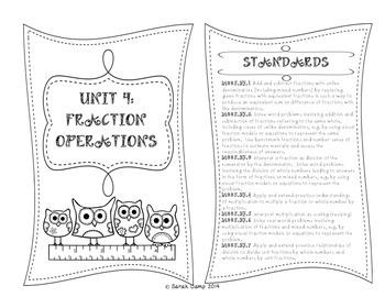 5th Grade Math Interactive Notebook Unit 4