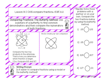 5th Grade Math Interactive Notebook Unit 4: + - x / Fractions