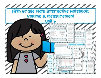 5th Grade Math Interactive Notebook Unit 6: Volume and Measurement