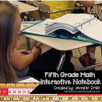Fifth Grade Math Interactive Notebook for Entire Year Bundle