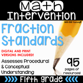 5th Grade Math Intervention Pack Fractions RTI DISTANCE LE