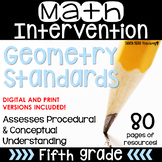 5th Grade Math Intervention Pack Geometry RTI NO PREP Guid