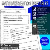 5th Grade Math Intervention Pack Operations & Algebraic Thinking RTI Materials