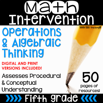 5th Grade Math Intervention Pack Operations & Algebraic Thinking RTI Materials