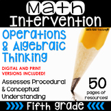 5th Grade Math Intervention Pack Operations & Algebraic Th