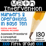 5th Grade Math Intervention Pack Place Value/ Numbers RTI NO PREP Guided Math