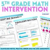 5th Grade Math Intervention Program Bundle - Great for Dis
