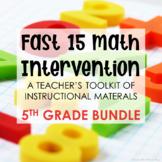 5th Grade Math Intervention Teacher Toolkit Hands-on Lesso