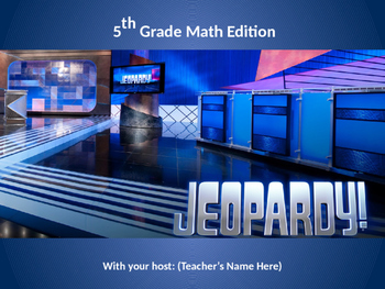 5th Grade Math Jeopardy