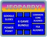 5th Grade Math Jeopardy BUNDLE including 6 separate games