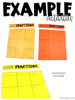 5th Grade Math Journal Fractions Multiply and Divide