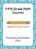 5th Grade Math Journal extended responses CCSS aligned