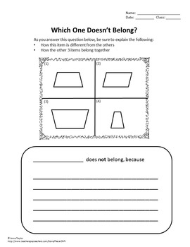 5th Grade Writing in Math Journal Activity FREE