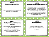 "5th Grade Math Kid-Friendly ""I CAN"" Statements for Common Core State Standards"