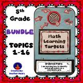5th Grade Math Learning Targets Bundle