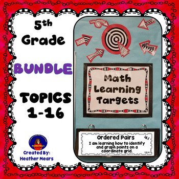 5th Grade Math Learning Targets Bundle