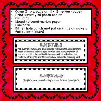 5th Grade Math Learning Targets Topic 2