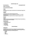 5th Grade Math Lesson Plan
