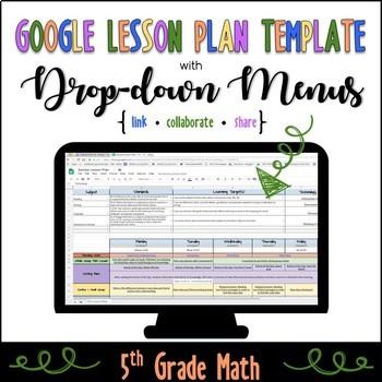 5th Grade Math Lesson Plan Template