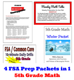 5th Grade Math MEGA-BUNDLE! 4 Products in 1!  Hundreds of Practice Questions