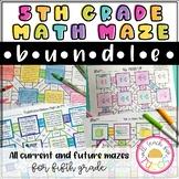 5th Grade Math Maze Bundle