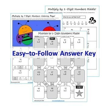5th Grade Math Mazes, Riddles & Coloring Pages (Fun MATH Activities)