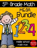 5th Grade Math Mega Bundle With Printed and Digital Resources