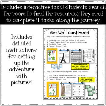 5th Grade Math Mission - Digital Escape Room - Back to School Amazing Race
