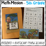 5th Grade Math Mission - Escape Room - Safari Mystery End of Year Review