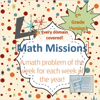 5th Grade Math Missions - An Entire Year of Problem of the