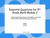 5th Grade Math Module 3 Essential Questions- New York/ Eur