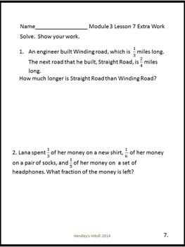 5th Grade Math Module 3 Practice Work- New York/ Eureka Math