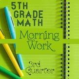 Spiral Review 5th Grade Math ⭐ 3rd Quarter