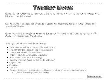 5th Grade Math Morning Work Bundle