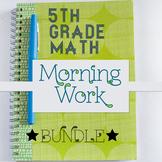 5th Grade Math Morning Work: Entire Year, 5th Grade Math Spiral Review Homework