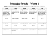 5th Grade Math Morning Work - Week 1