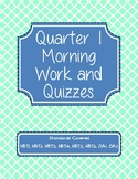 5th Grade Math Morning Work and Quizzes - Quarter 1