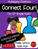 5th Grade Math Game Multiplying Fractions Connect Four - P