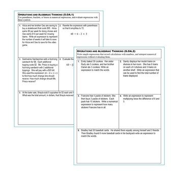 5th Grade Math OPERATIONS & ALGEBRAIC THINKING Assessments (5.OA) Common Core