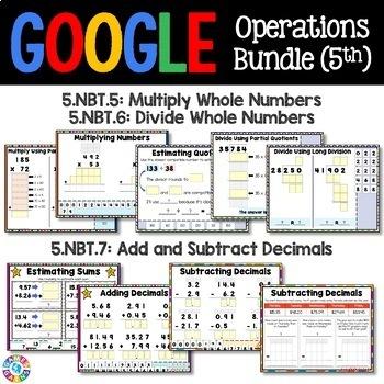 5th Grade Math Operations Bundle {5.NBT.5, 5.NBT.6, 5.NBT.7...} Google Classroom
