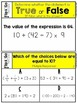 Order of Operations - 5th Grade Math Flip & Go Cards